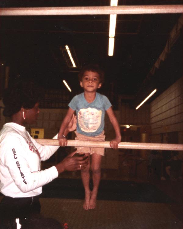 Sam Jones with instructor Gayla Parks in the Northwood Mall basement in Tallahassee.