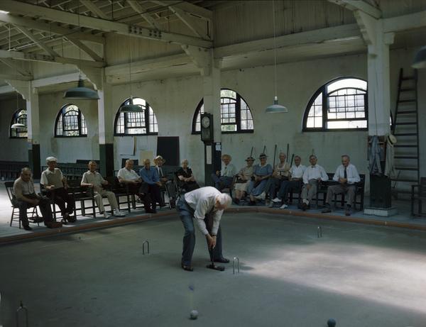 Indoor croquet in Sarasota, Florida.