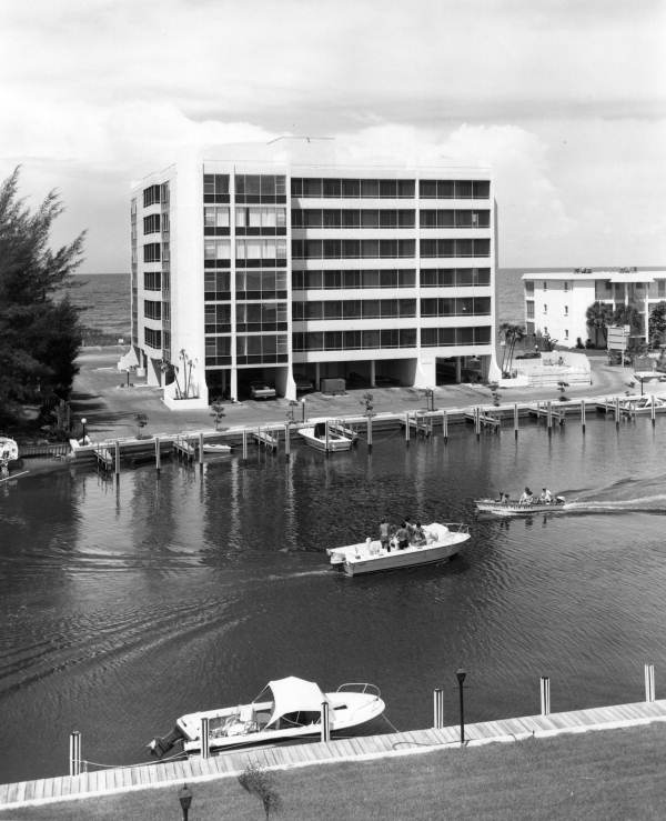 Fisherman's Haven Condominiums at 9150 Blind Pass Rd. on Siesta Key near Sarasota, Florida.