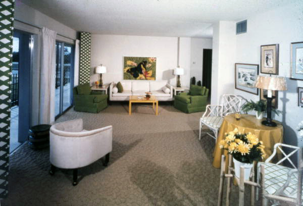 Interior view showing the living room in a Sarasota house.