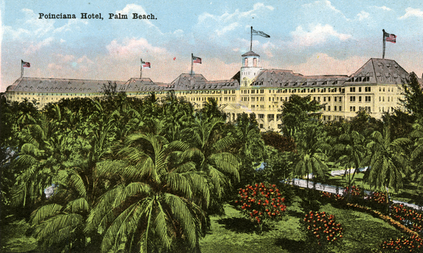 Souvenir viewbook showing the Poinciana Hotel in Palm Beach, Florida.