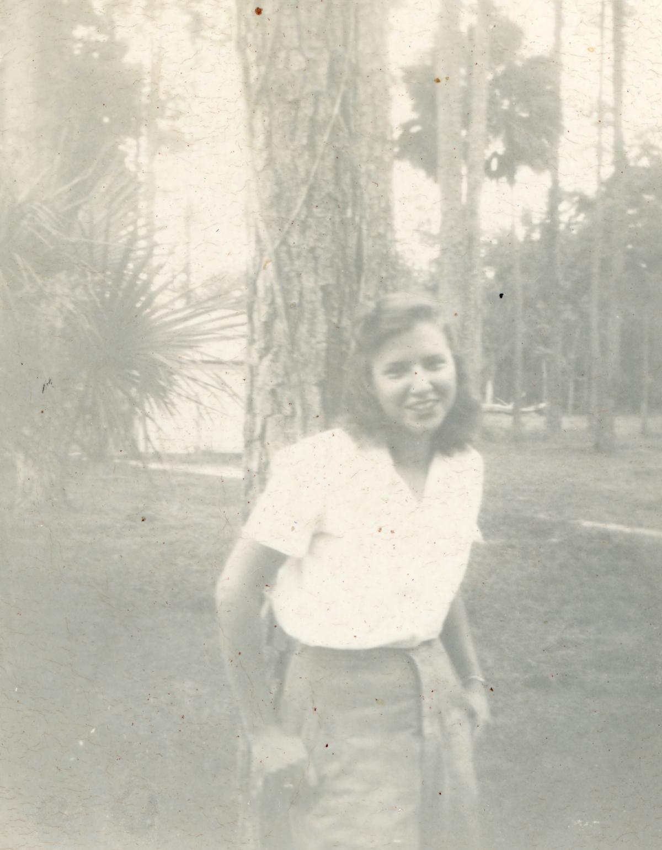 Outdoor portrait of Barbara Raney.