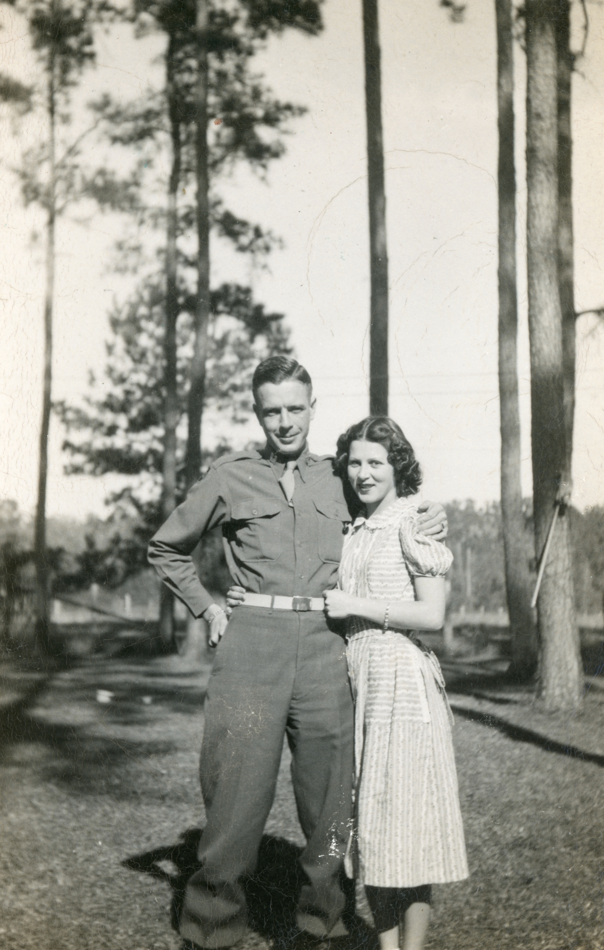 Outdoor portrait of Tom Raney Jr. with wife Marianne at the Fort McCoy ranch.