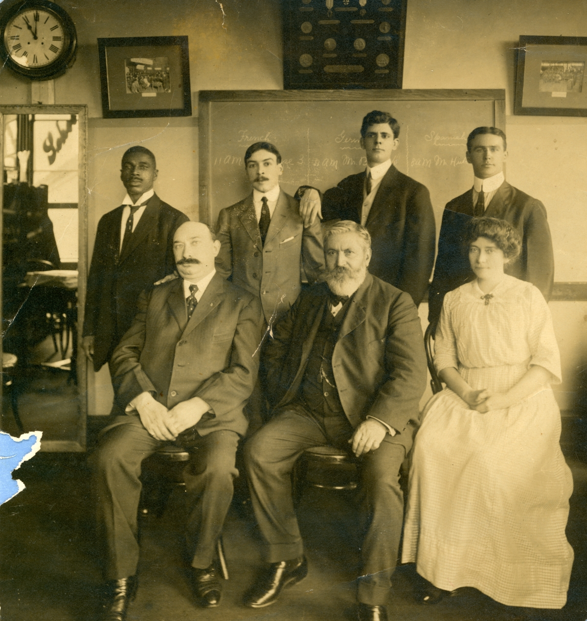 Vintner Emile DuBois, seated center, in a group photo - Tallahassee, Florida.