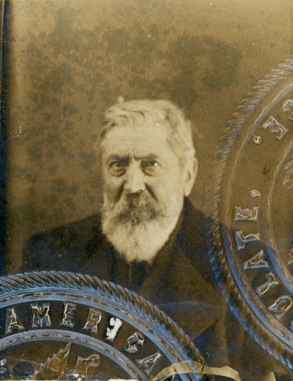 Passport photo of vintner Emile DuBois.