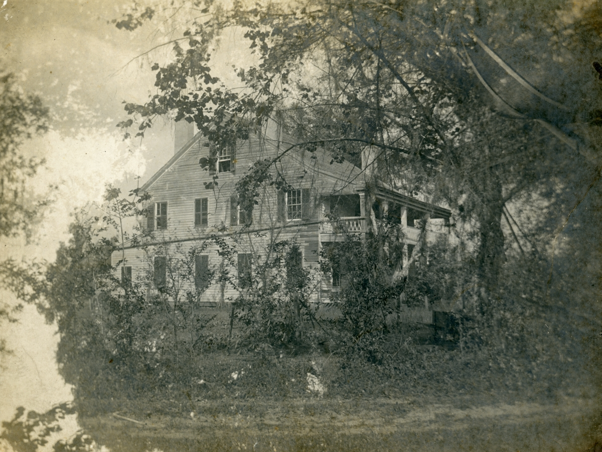 Side view of San Luis, home of Emile DuBois in Tallahassee.