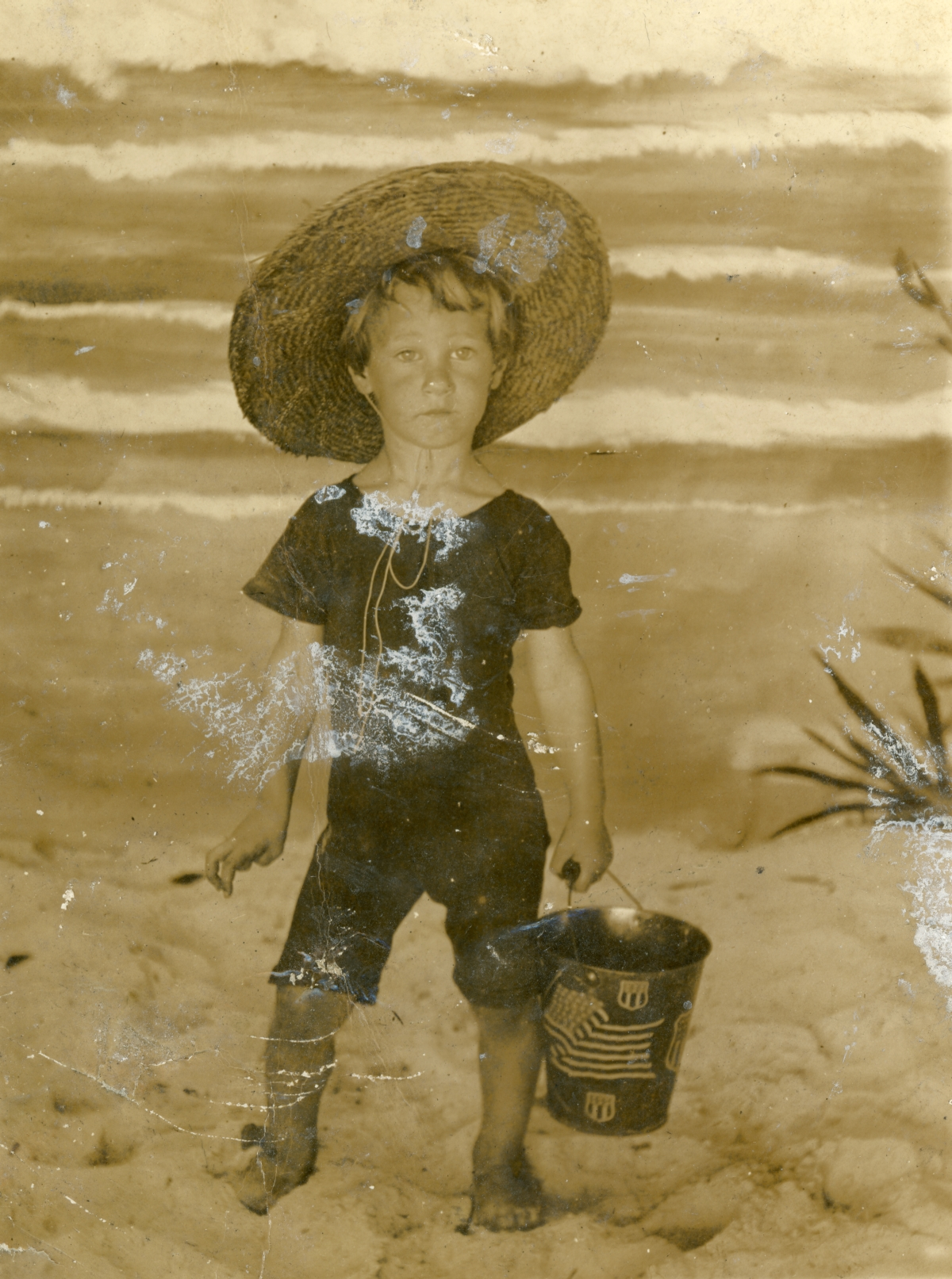 Coleman Dixon, age 2, at the beach.
