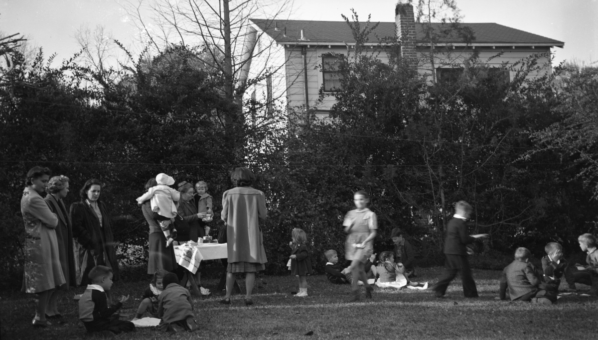 Christmas party in the backyard of Cassandra Dixon's home at 516 Ward St. in Tallahassee.