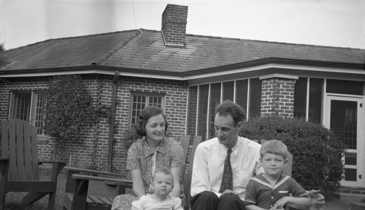 Dixon family in grandma's backyard in Tallahassee.