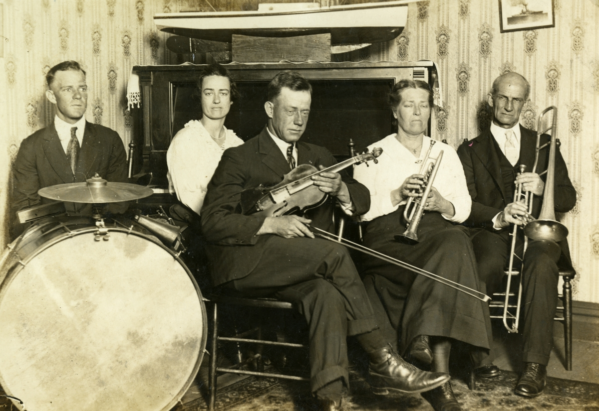 Fairchild family with their instruments in Pensacola.