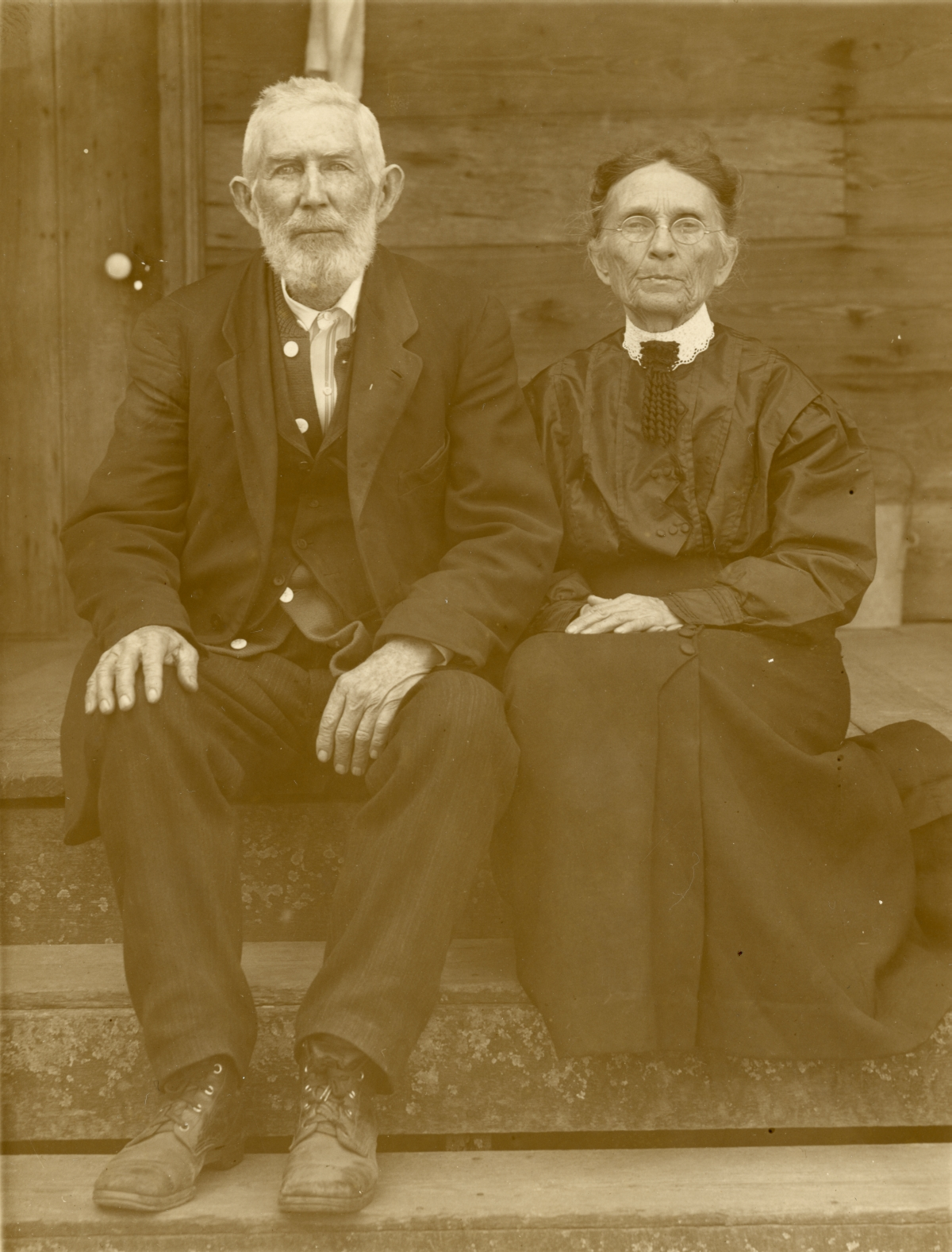 Portrait of John Monroe Fletcher with his wife Mary.