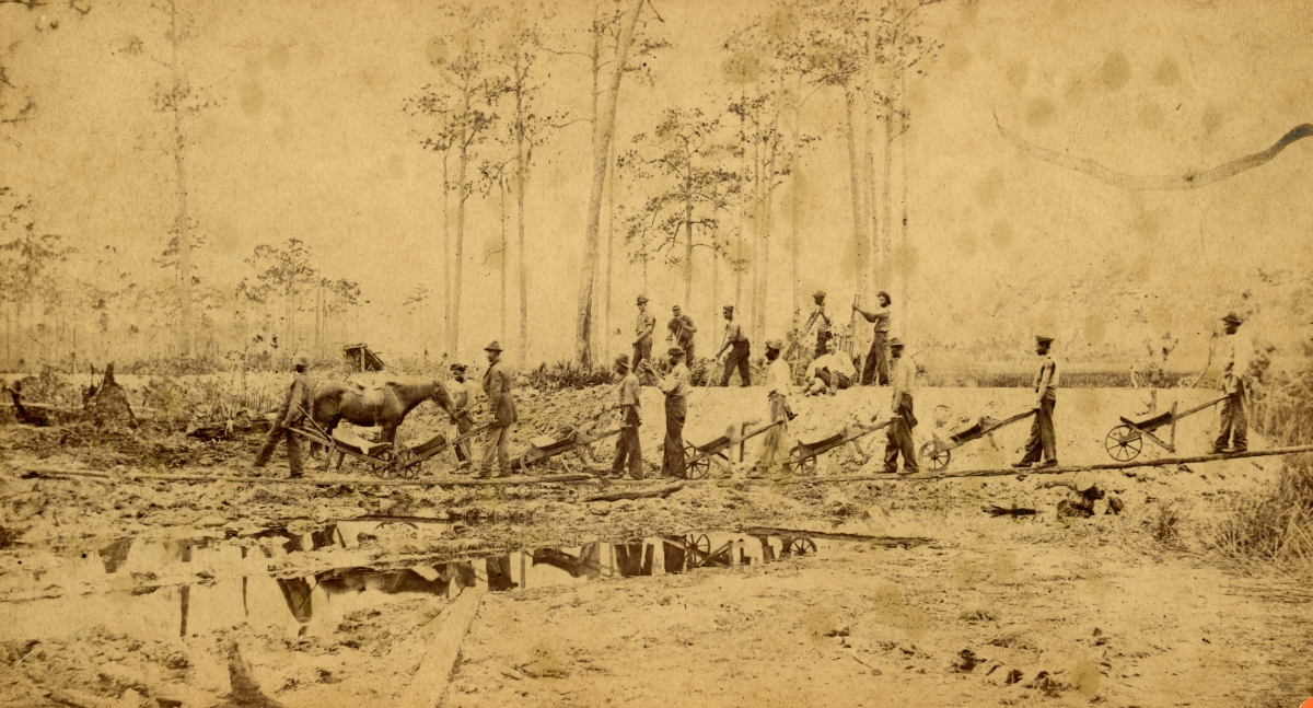 Grading the Jacksonville, Tampa and Key West Railway.