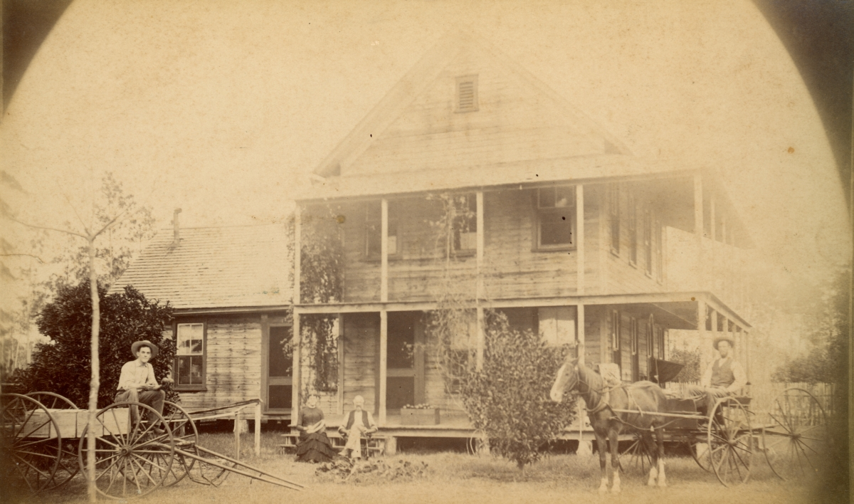 Clark family at their home in Pomona.