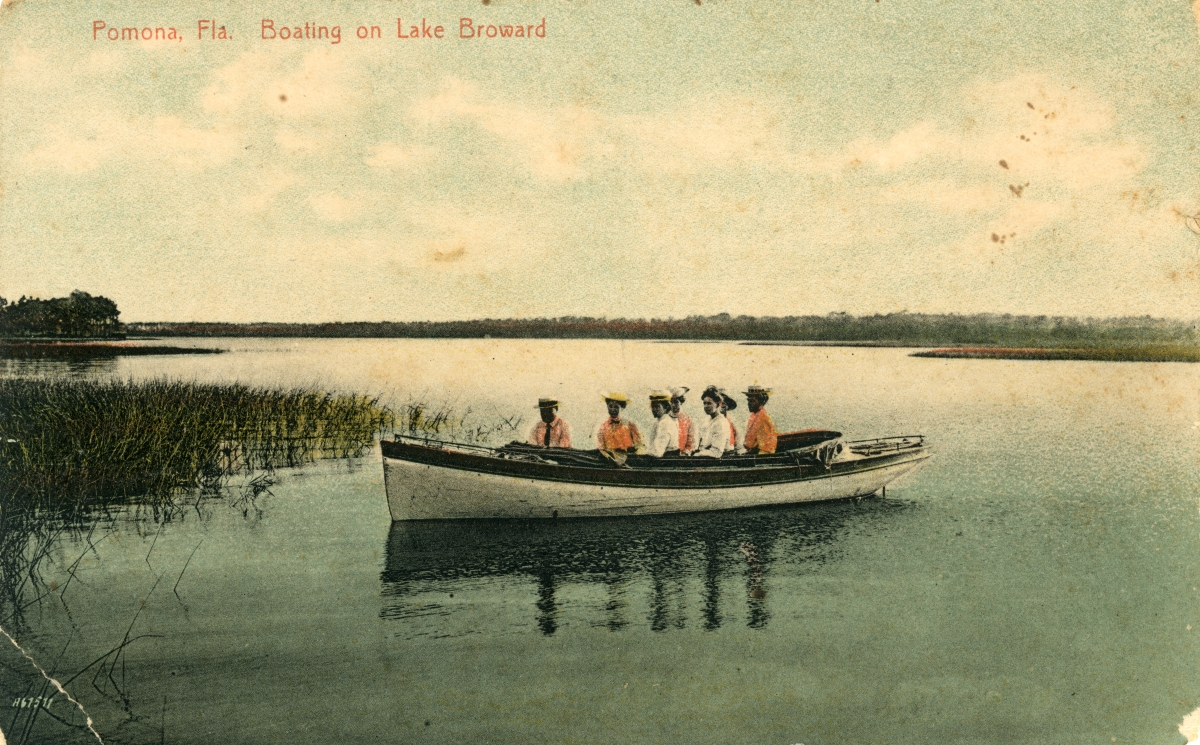 Boating on Lake Broward - Pomona, Fla.
