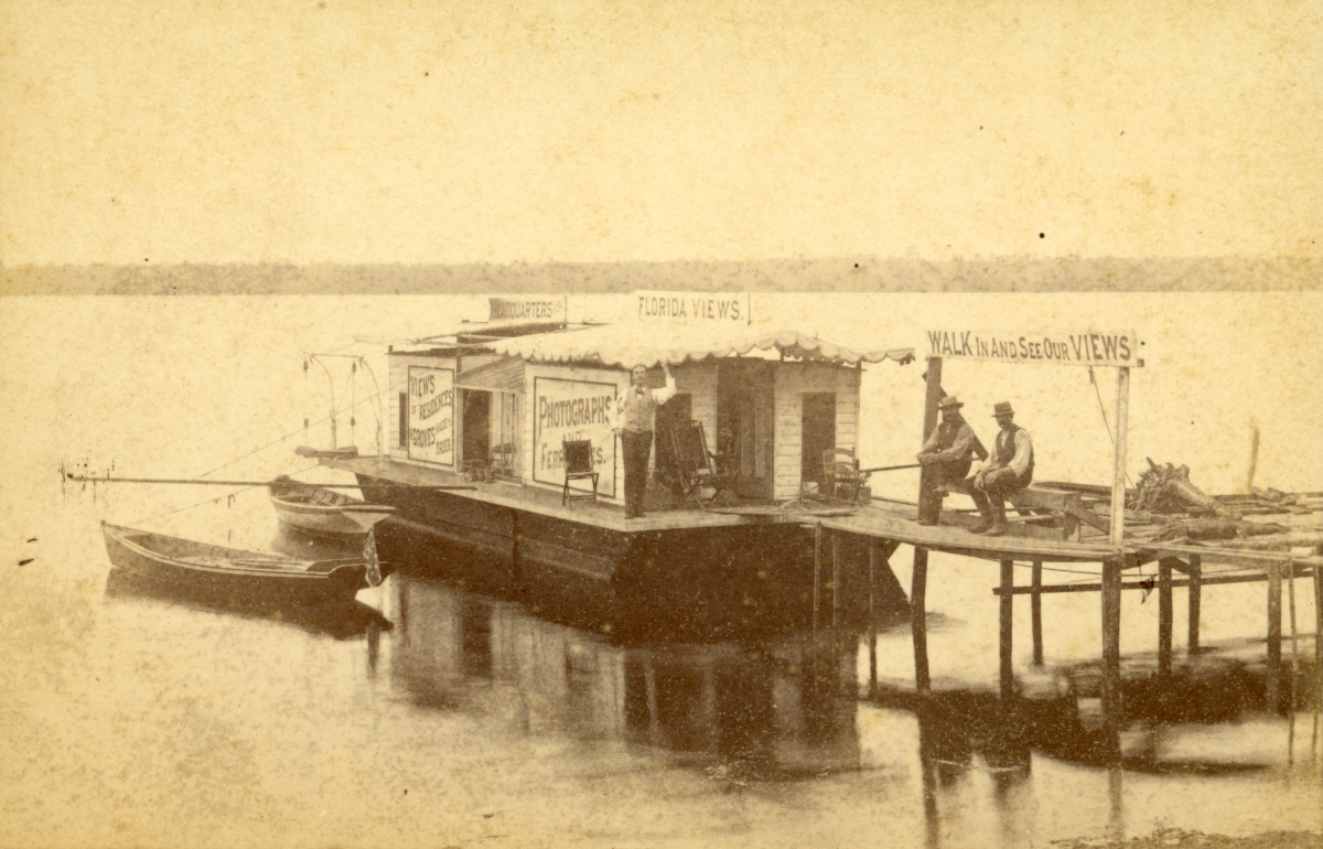 Pine's Floating Photographic Studio on the Saint Johns River.