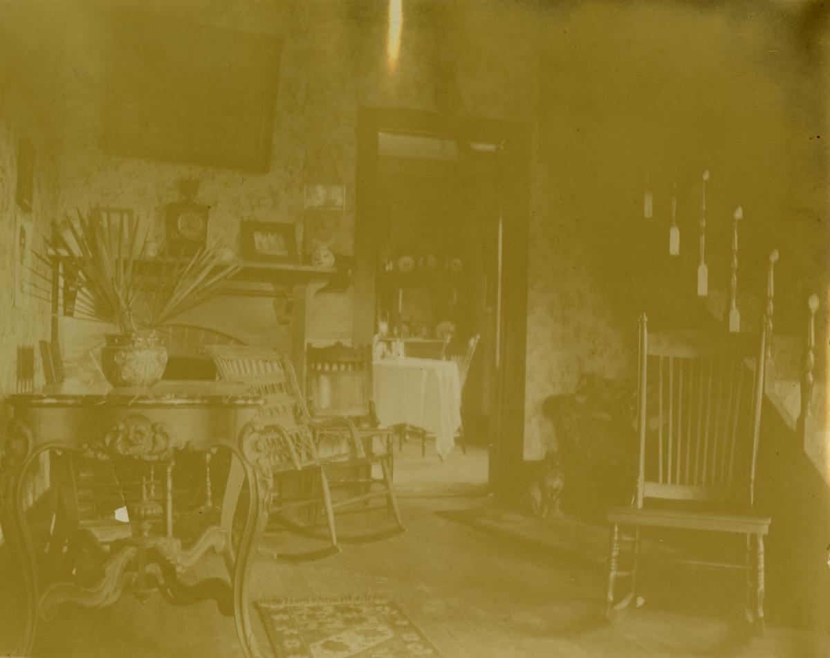 Inside A.B. Knowlton's house - Pomona, Florida.