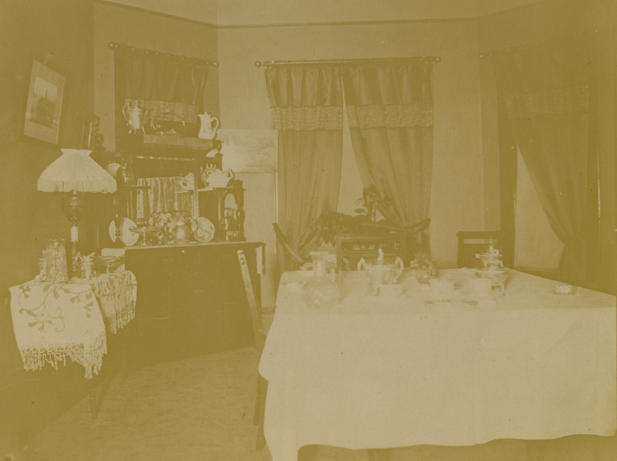 Dining room inside C.H. Worcester's home - Pomona, Florida.