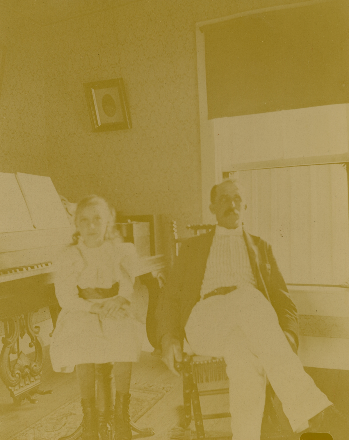 Horace Prior with his daughter Leila in Pomona.