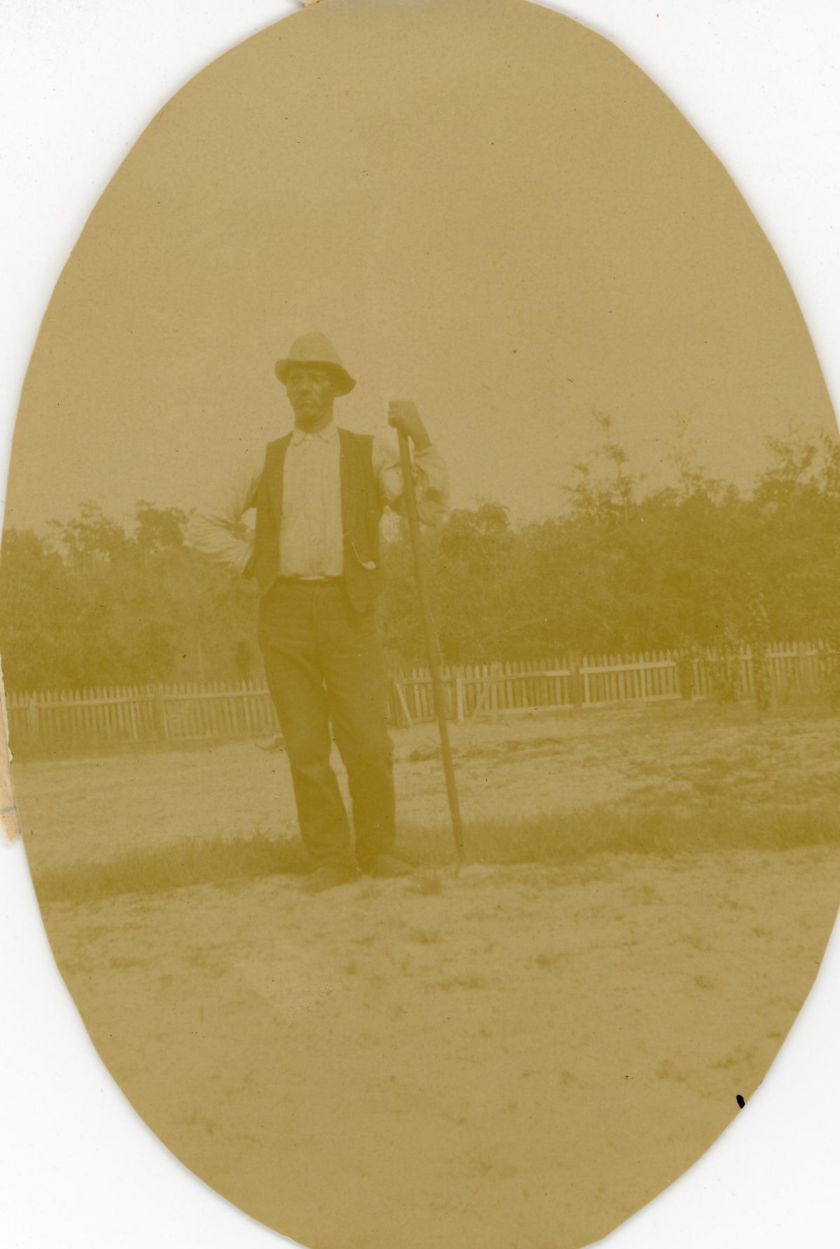 Outdoor portrait of Ned Jackson at Pomona Park.