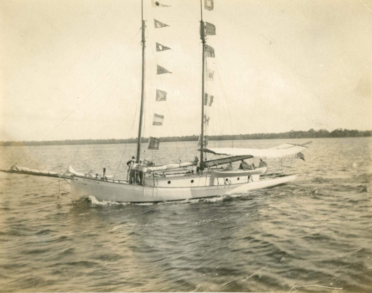 """Wing It"" boating on Lake Broward."