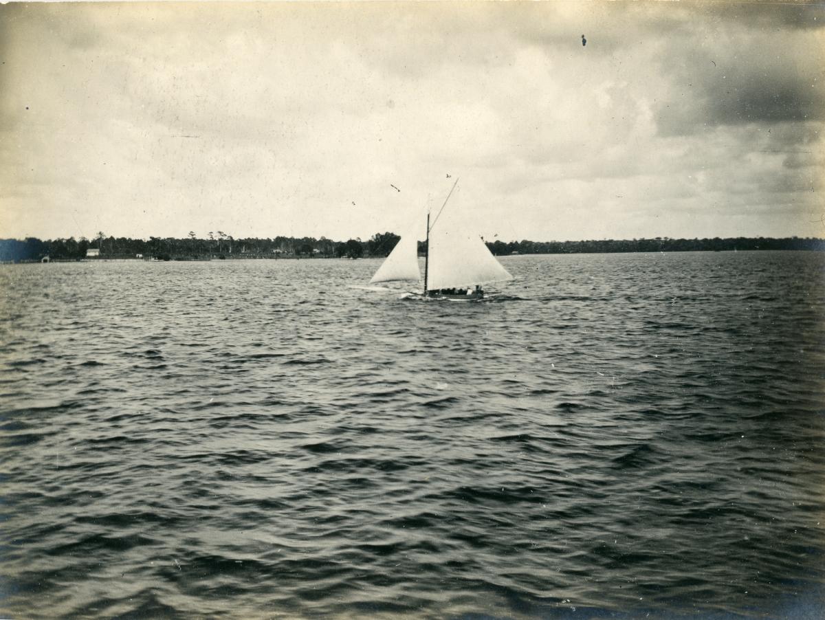 Sailboat on Lake Broward.