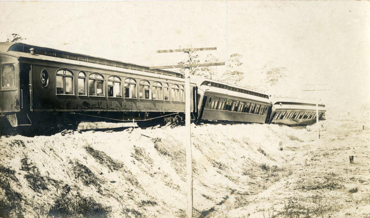 Atlantic Coast Line train wreck.