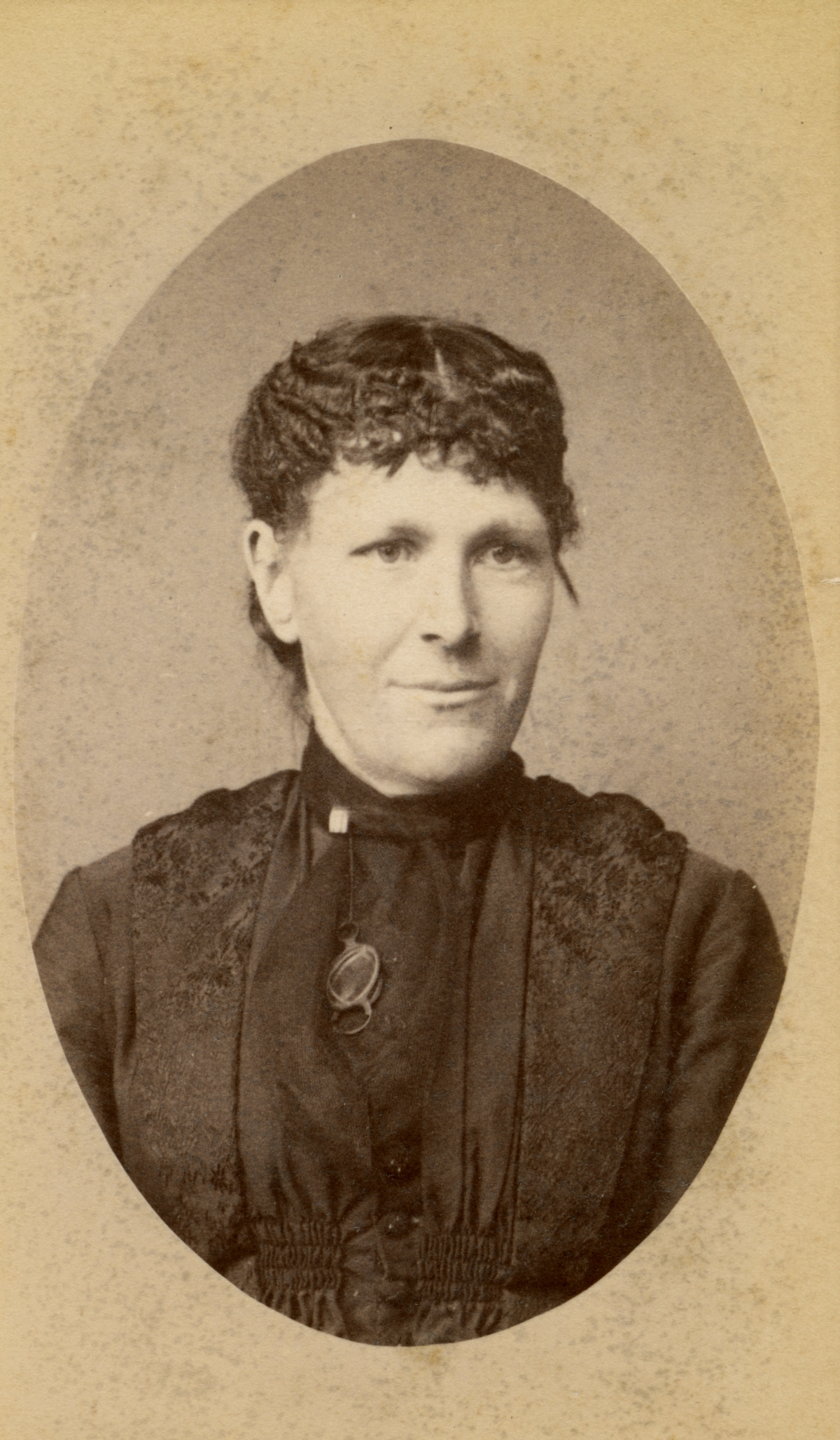 Portrait of Pomona Park pioneer Mrs. Olmstead.