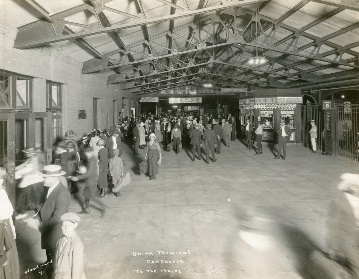 Union Terminal railroad depot concourse in Jacksonville.