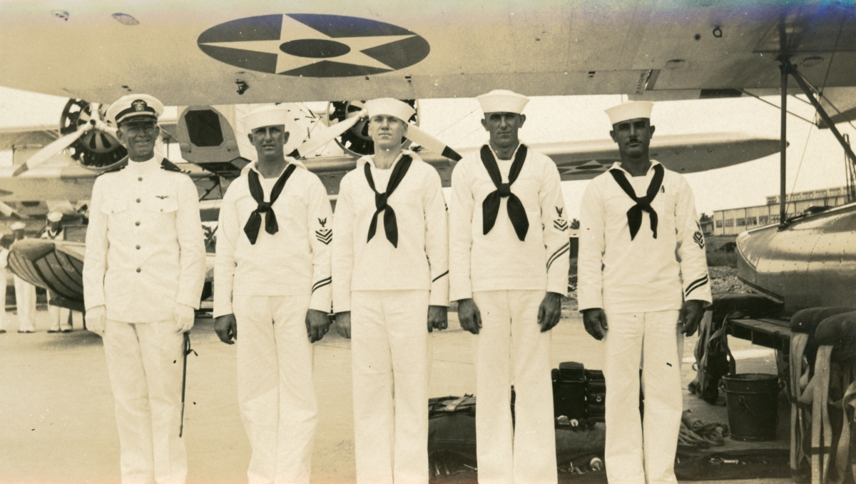 Naval plane Captain and crew in Cuba.