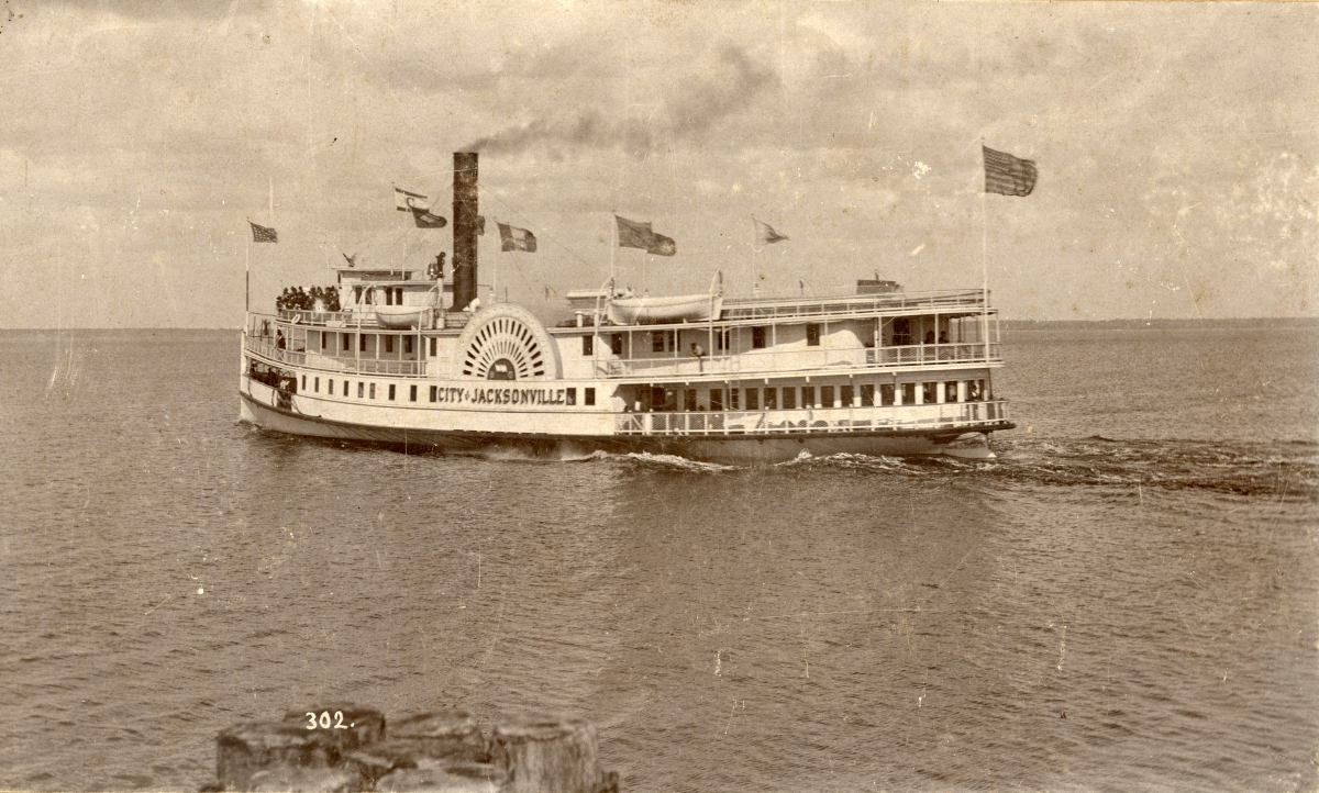 "Paddle steamer ""City of Jacksonville""."