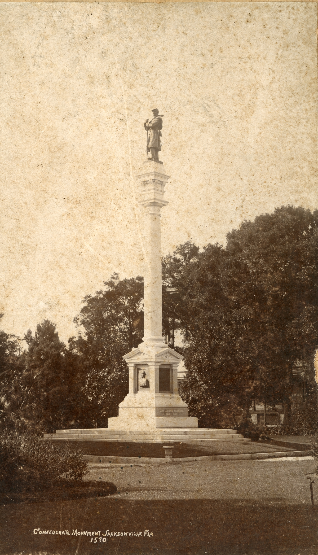 Confederate Monument in Jacksonville.