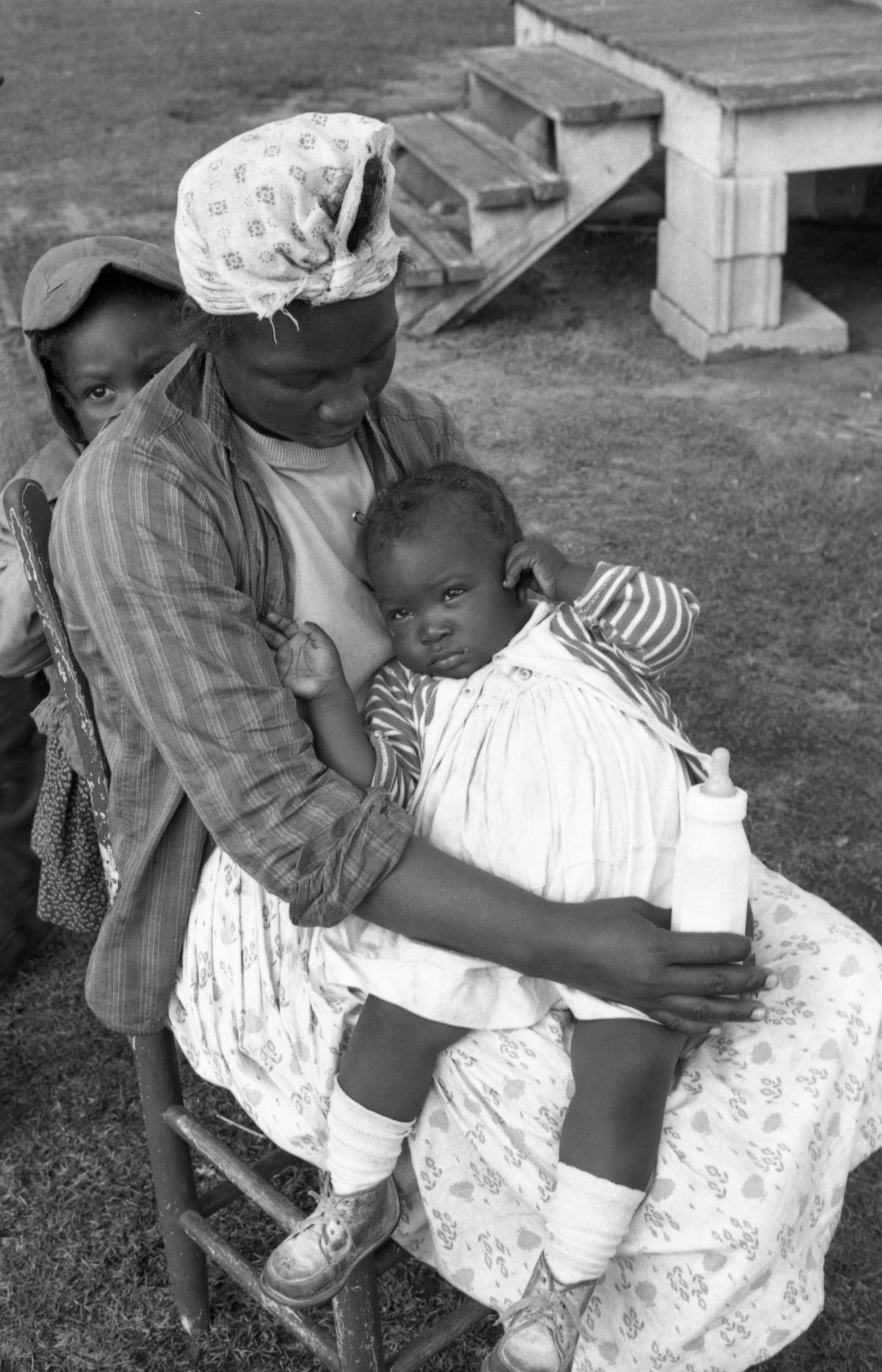 Gladys Ulee with baby Cordial and daughter Onita in the Thompson Valley community of Jefferson County.
