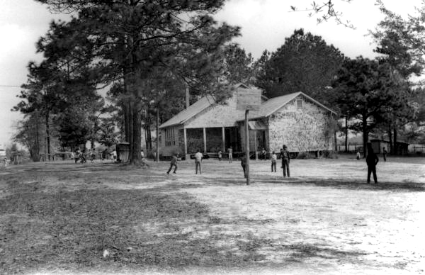 Children playing at school in Aucilla.