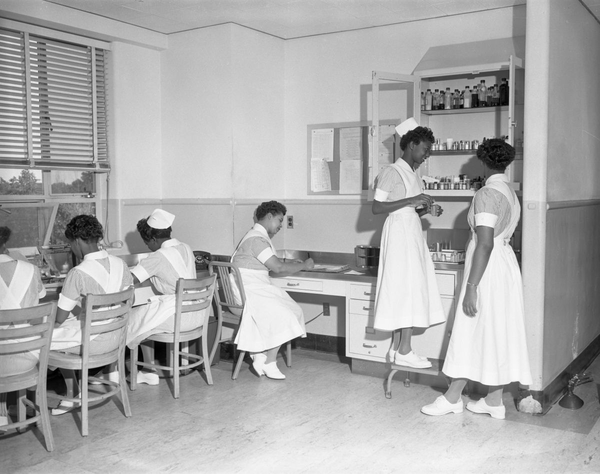 Nurses at the FAMU Hospital in Tallahassee.