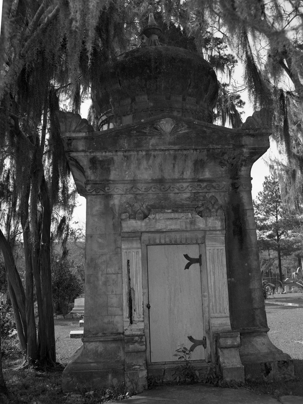 Calvin C. Phillips mausoleum at Oakland Cemetery in Tallahassee, Florida.