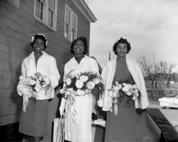 Miss Lincoln High School with her attendants in Tallahassee, Florida.
