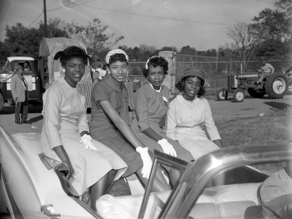 Students in the Lincoln High School homecoming parade in Tallahassee, Florida.