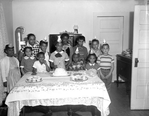 Eighth birthday party for Harriette Stewart in Tallahassee, Florida.