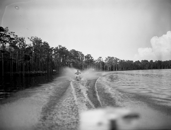 Water skier in Tallahassee, Florida.