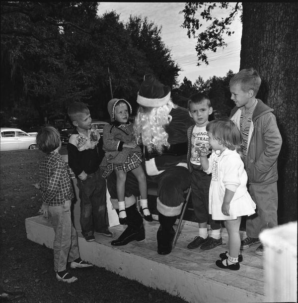 Children with Santa Claus in Tallahassee.
