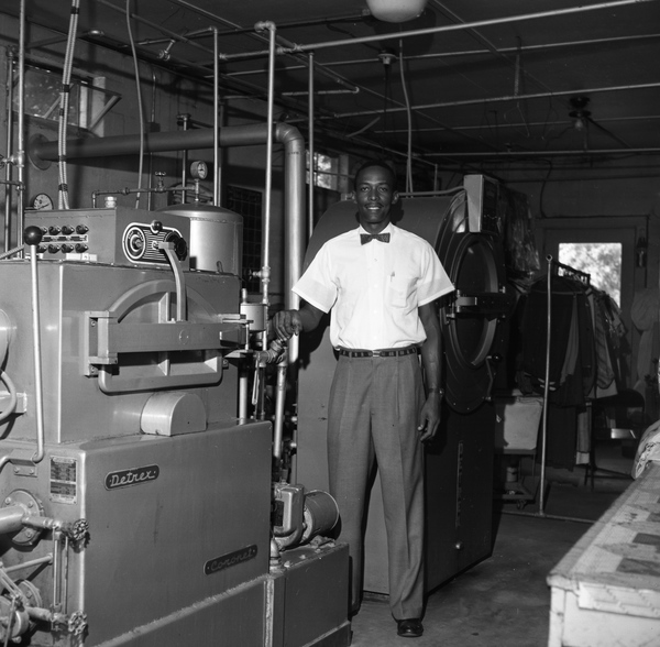 Harold Knowles at Knowles Cleaners and Coin Laundry in Tallahassee.