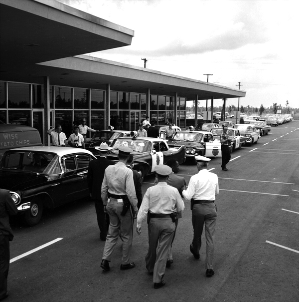 Freedom riders being arrested at the Tallahassee Regional Airport.