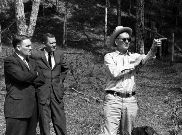 Unidentified men in the woods near Tallahassee.