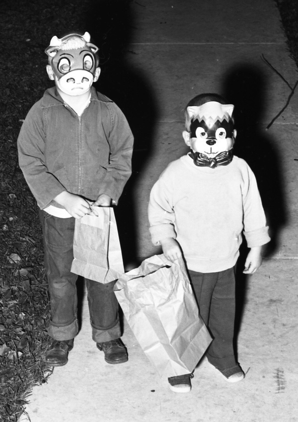 Children trick-or-treating in Tallahassee on Halloween.