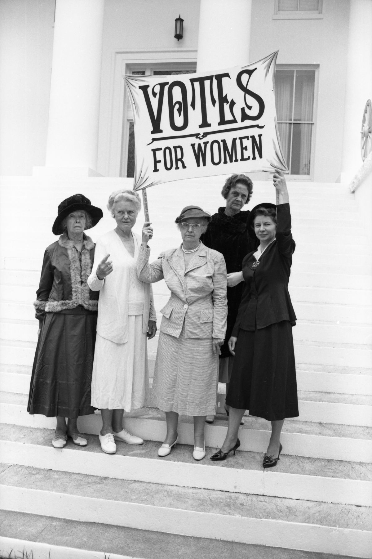 League of Women Voters recalling suffragist years at the Capitol in Tallahassee.