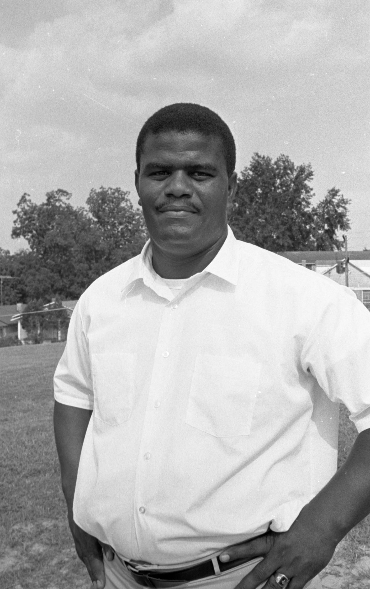 Portrait of a FAMU High School football coach in Tallahassee.