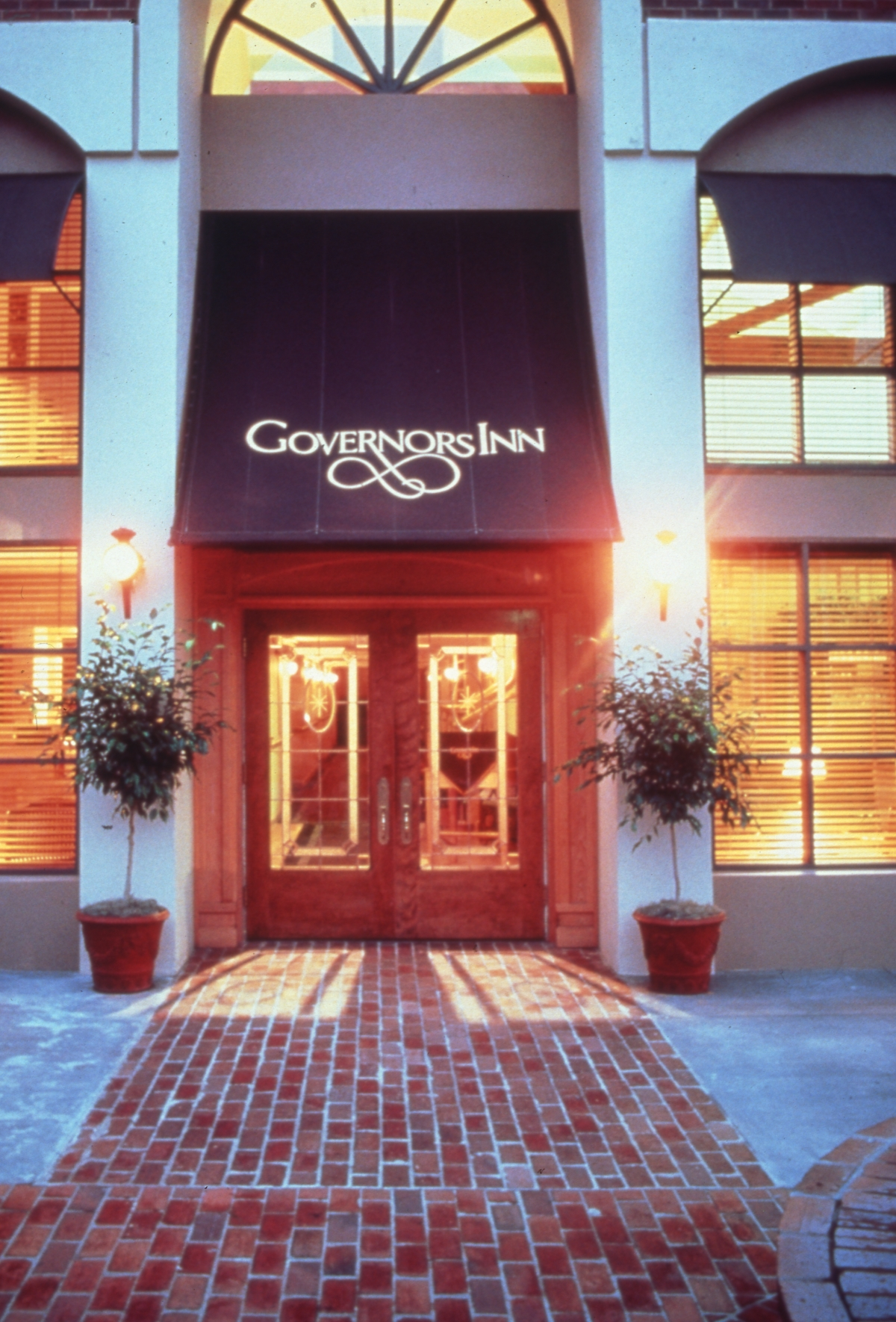 Entrance to the Governors Inn hotel at 209 S. Adams St. in Tallahassee, Florida.