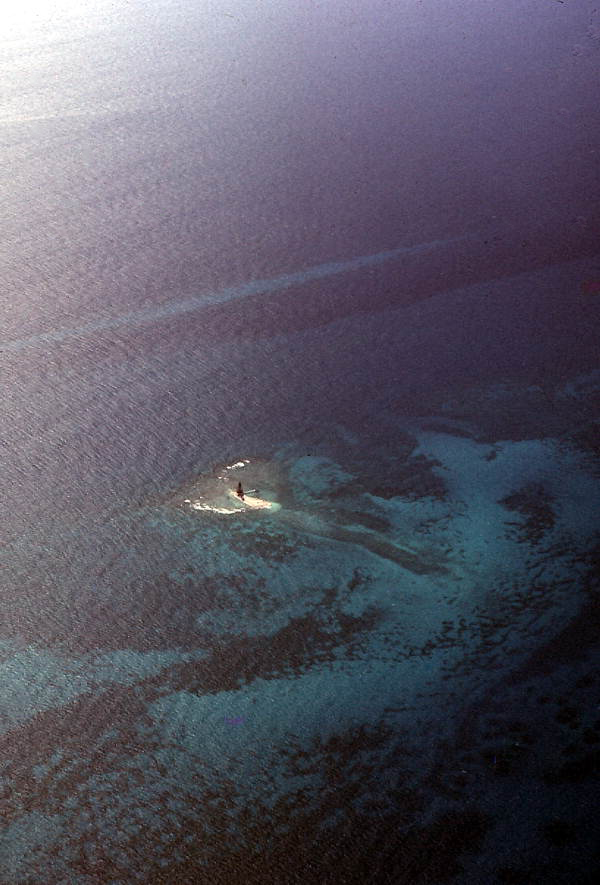 Aerial view of the Sand Key Lighthouse.