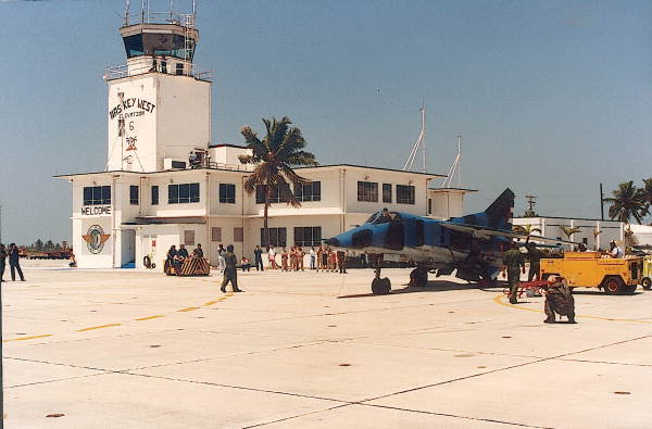Cuban MiG-23BN on the ramp at Naval Air Station Key West.