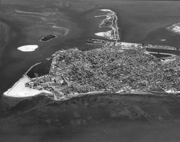 Aerial view looking northeast over the city - Key West, Florida.